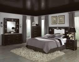 retro master bedroom dark wood furniture interior design ideas