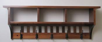 Wall Mounted Coat Rack With Cubbies Amazon Mission Cubby Coat Rack Shelf Solid Oak Wall Mounted 100