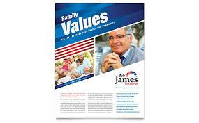 Campaign Brochure Political Campaign Flyer Template Design