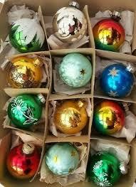 Alt Vor 1970 Christbaumschmuck Weihnachten Neujahr