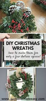 Quick and Easy DIY Christmas Wreath (Make them for Super Cheap