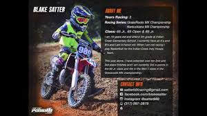 Motocross Sponsorship Resume 24 Blake Satter Sponsorship Resume YouTube 1