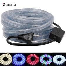 AC220V RGB Đèn Neon Tròn Dây Đèn LED Dẻo Đèn LED Chống Nước Ruy Băng 36 Đèn  LED/M EU Cắm Đèn LED băng Keo Trong Nhà Ngoài Trời Trang Trí|LED Strips