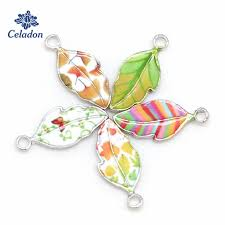 New Arrival Alloy Enamel Leaf Charms Pendants <b>Drop Oil</b> Necklace ...