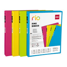 2in Binder Eb10200 Rio Pp 2in 2 D Ring View Binder A4 4c Deli