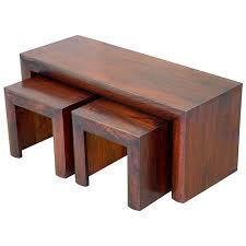 design of coffee table with stools mango wood 3 piece coffee table and stools set india