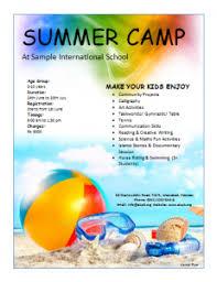 Summer Camp Flyer Summer Camp Marketing Ideas Pinterest Free