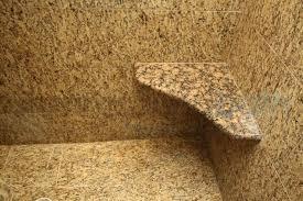 image of corner shower seat stone
