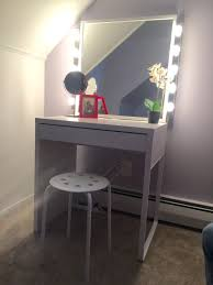 diy vanity table with mirror. makeup desk with lights   vanity tri fold mirror diy table