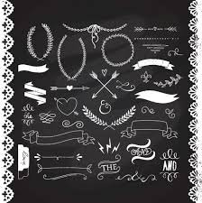 Chalkboard Laurels clipart Ribbons Wreaths by GraphicMarket