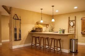 gary gayle cincinnati ohio inspiration for a mid sized farmhouse l shaped seated home bar remodel ideas for basement basement bar lighting ideas