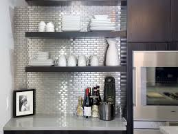 Modern Kitchen Shelving Kitchen White Open Shelving In The Modern Kitchen With Microwave