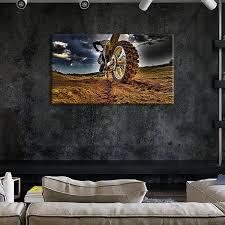 dirt bike multi panel canvas wall art on dirt bike wall art with dirt bike multi panel canvas wall art elephantstock