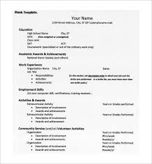 College Admissions Resume Template For Word College Resume Template