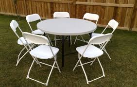 4ft round table and 7 chairs