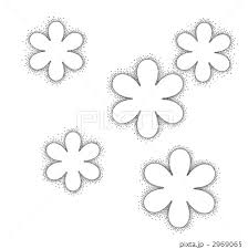 花の点描のイラスト素材 2969065 Pixta
