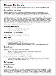 Steward CV Sample