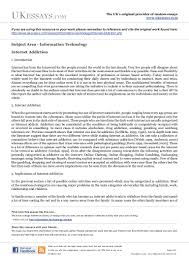 information technology essays internet addiction