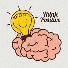 Positive Graphic Design Think Positive Graphic Design Vector Illustration