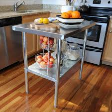 wood and stainless steel kitchen island and sportsman stainless steel kitchen utility table sswtable the home