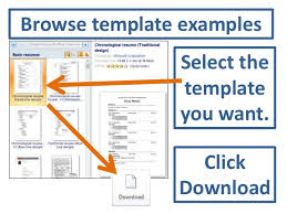 cv templates word 2010 accessing resume templates in word 2010