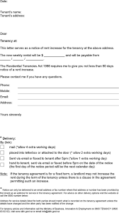 Rent Increase Notification Letter 3 Notice Of Rent Increase Free Download