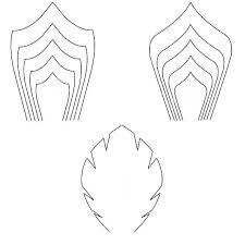 large templates large paper flower templates set of 2 flower templates and 1 leaf