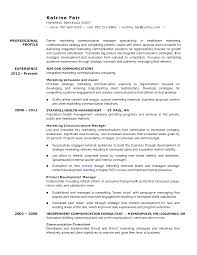 Fantastic Sample Of Resume For Marketing Manager Contemporary