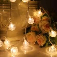 Christmas String Light Covers 2 5cm Crystal Ball Aa Battery String Lights 10 20 30 40 50