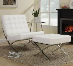 choosing best interior room with contemporary accent chair and ottoman contemporary white leather chair