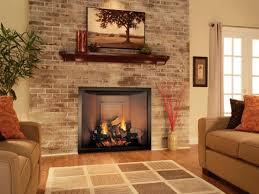 brick veneer fireplace surround ideas