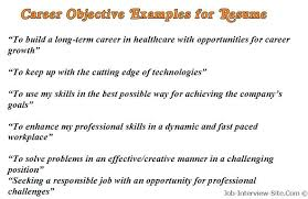 sample objectives ...