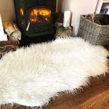 soft fluffy cream faux double sheepskin rug sheepskin rug99 rug