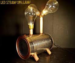 steampunk lighting. Introduction: LED Steampunk Lamp Using Old Light Bulbs Lighting