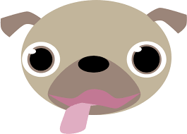 dog face clipart.  Dog Pug Face And Dog Clipart Openclipart