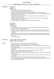 Architect Resume Samples | Velvet Jobs