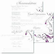Diy Guest Book Templates Fresh Wedding Guest Information Card