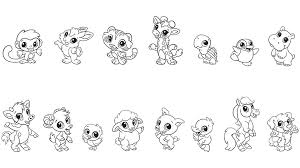 Animal Cute Coloring Pages Print Coloring
