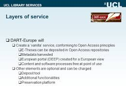 ucl library services the dart europe project towards developing a  11 ucl