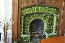 green glazed antique fireplace ireland