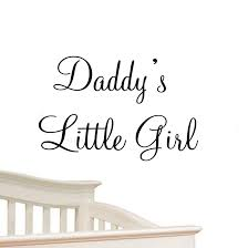 Little Girl Quotes Interesting Daddy's Little Girl Nursery Wall Decals Cute Baby Quote Vinyl