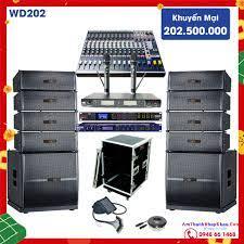 Bộ dàn âm thanh đám cưới Line Array liền công suất AHK WD202