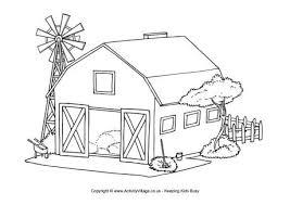 23 Farm House Coloring Pages Alyssachiainfo