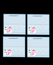 Free Printable Christmas Place Card Templates L