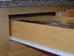 Cabinet Drawer Rails How To Remove A Drawer With Metal Glides Youtube Kitchen Cabinet