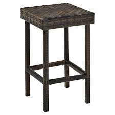 crosley palm harbor outdoor wicker counter height stool set of 2 com