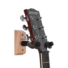 ammoon gh 01 guitar hanger wooden wall mount hook holder keeper for electric acoustic guitars bass ukulele string instrument for us 7 69 1 tomtop