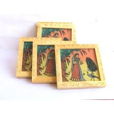 Small Picture Wooden Coaster 6 Pcs Set 3 x3 Online shopping INDIA Buy