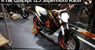 ktm concept 125 supermoto racer at the 2009 milan show cycle world