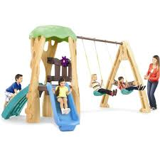 tree house swing set